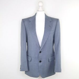 Centaur-Grey-Blue-Subtle-Striped-Blazer-Long-Sleeved-Formal-Jacket-Size-36-S