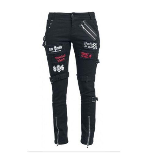 Punk Gonna Pantaloni Black Metallo 205788 Kuroneko Di Tessuto Gotico SYq51Uww