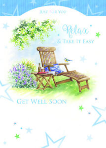 Just For You Relax And Take It Easy Get Well Soon Greeting Card