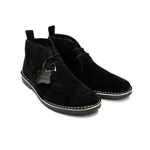 Men's Suede Boots, Men's Wide Fit