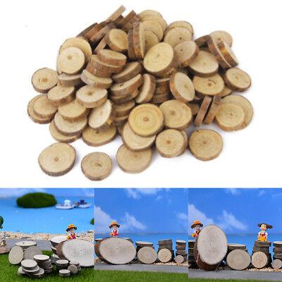 100x Fuß Holzscheiben Baumscheiben Verzierung Hochzeit Deko Basteln Handwerk