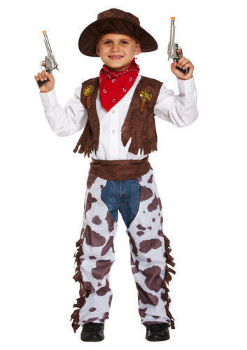 Cowboy Kids Fancy Dress Wild Western Cowgirl Childs Boys Girls Book Day Costumes