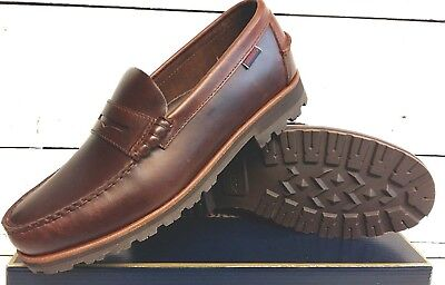 Sebago Kedge Venetian 7000AI0 Mens Brown Leather Casual Slip On Loafers Shoes