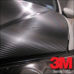 3M Wrap Film Series 1080 Carbon Fibre Black A4 Size 210mm X 297 Mm