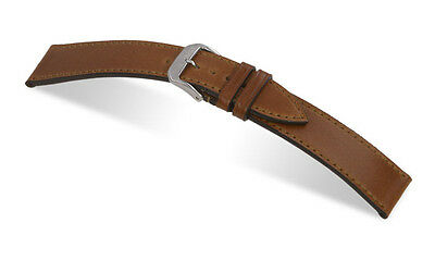 "RIOS1931 Genuine Shell Cordovan Leather Watch Band 18 mm Cognac ""Springfield"""