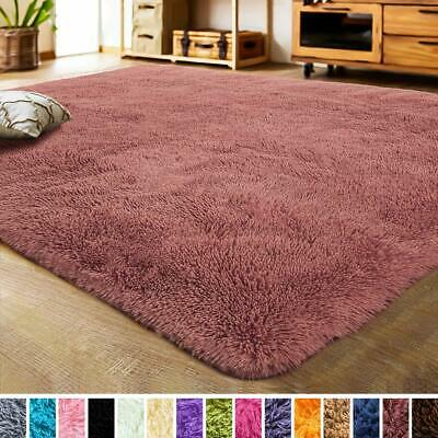 Pink Faux Fur Rug Area Shaggy 5.3 x 7.5