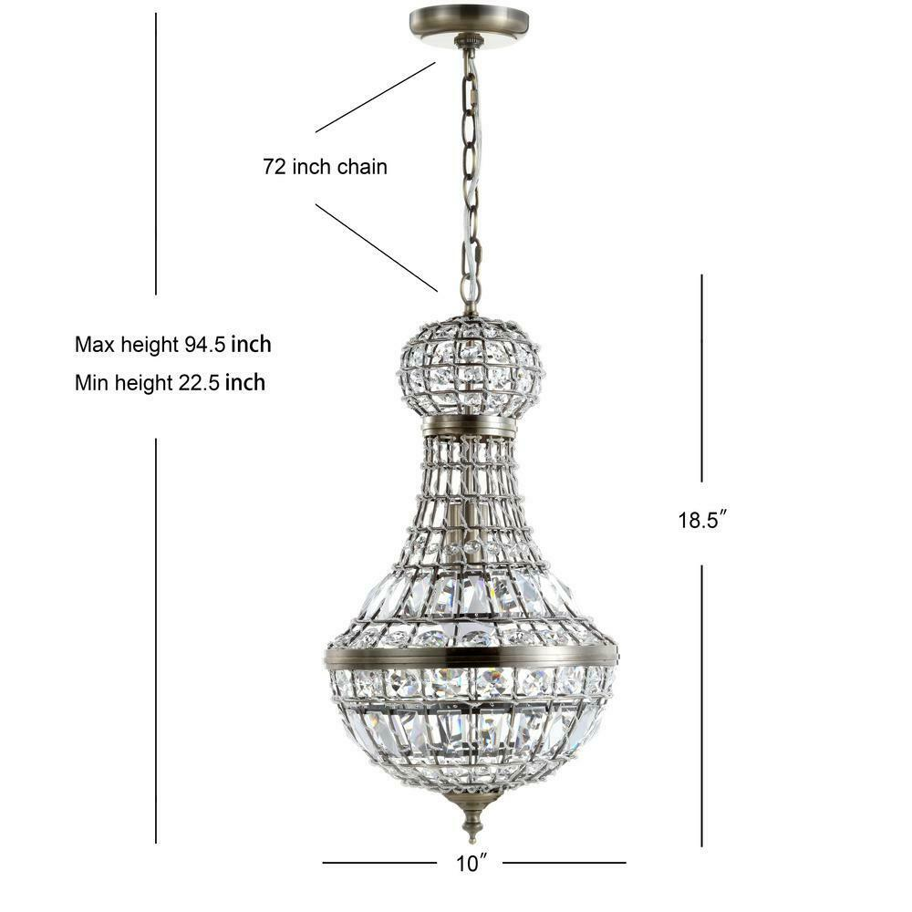 Jonathan Y Lighting Jyl6108 Regina 1 Light 10 W Led Crystal Mini Brass For Sale Online Ebay