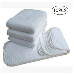 10-pcs-modern-nappy-inserts-liners-reusable-washable-Cloth-Nappies-diapers-baby