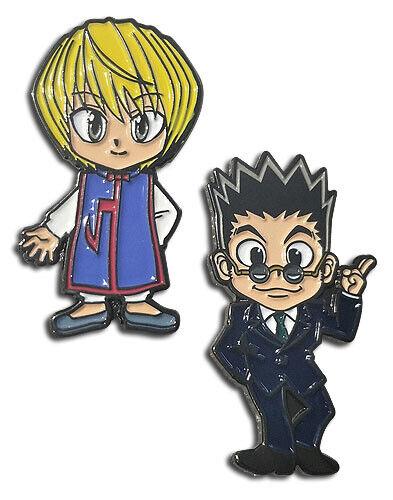 **Legit** Hunter X Hunter Kurapika Leorio Authentic Anime Enamel Pin Set #50793
