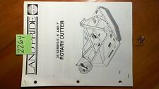 Land Pride 35 Series 5 6 7 Rotary Cutter Owners Operators Manual With Parts