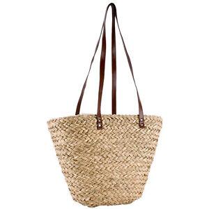 Korbtasche-Strandtasche-Ibizatasche-Tasche-Umhaengetasche-Freibadtasche-Einkaufen