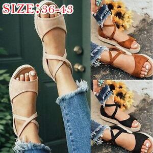 Women-Ladies-Zipper-Flatform-Espadrille-Sandals-Summer-Holiday-Ankle-Strap-Shoes