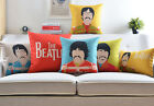 Colorful Music Band The Beatles Portrait linen Cushion Cover throw pillow Case