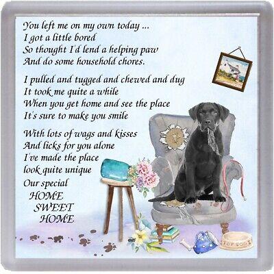 """Labrador Retriever Dog Fridge Magnet /""""Home is Where/"""" Design No 1 by Starprint"""