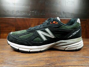 Details zu New Balance M990MB4 Suede Mens Running 990v4  (Black/Green/Orange) Made in USA