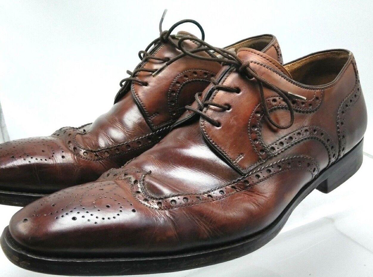 Magnanni Sari Braun Cognac Leder Derby Oxford Dress Schuhes 9 Größe 9 Schuhes M - Spain f07fe0