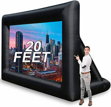 20 Feet Inflatable Movie Screen Outdoor Projector Screen New Portable For Movie