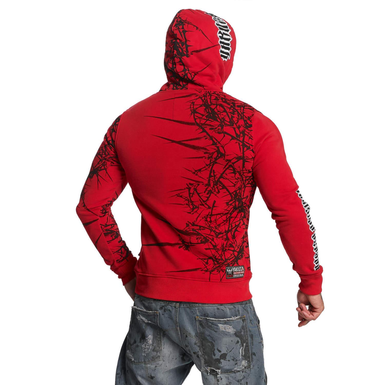 YAKUZA - Herren Hoodie HOB 11004  Thorns  ribbon rot (rot)  | Passend In Der Farbe
