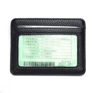 Mens PU Leather Wallet Front Pocket RFID Blocking Slim Mini Card Holder Bag Nice