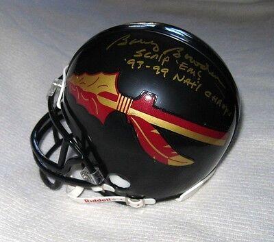 Sports Mem, Cards & Fan Shop Bobby Bowden Signed Fsu Seminoles Mini Helmet Florida State Jsa Coa Pure White And Translucent Autographs-original