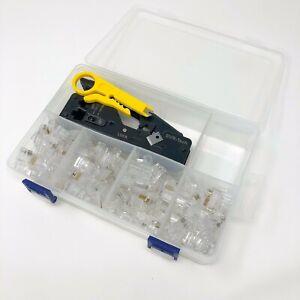 Svr-tech Pro Hd Rj45 Cat 5 6 7 Ez Traverser Connecteur Sertissage Pince à Sertir Kit-afficher Le Titre D'origine