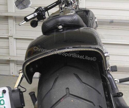 LED Fender Brake Light//Turn Signal Kit for Harley Davidson Breakout Red Lens