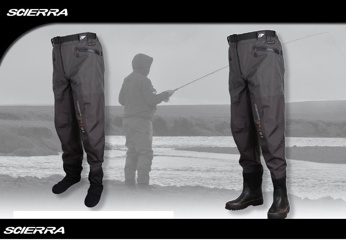 Scierra X16000 Wader calza in vita o gamba dello stivale avvio suole con rilievi   Tutte le Taglie