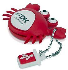 Genuine TDK 8GB Novelty USB 2.0 Flash Pen Drive Memory Stick w/ Keychain - Crab