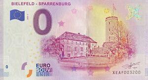 BILLET-0-EURO-BIELFELD-SPARRENNBURG-ALLEMAGNE-2018-NUMERO-3200