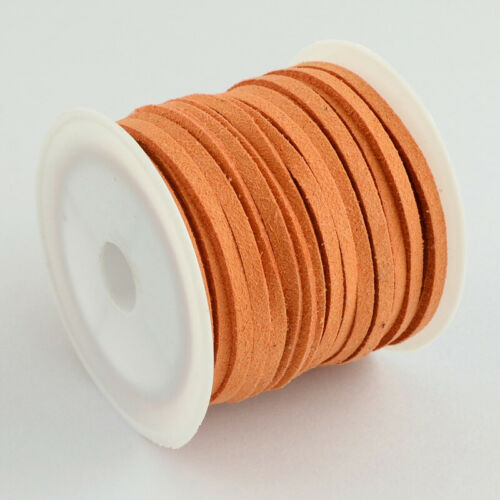 Assorted Faux Suede Cord Imitation Leather Lace Craft Making Soutache Thread 4mm