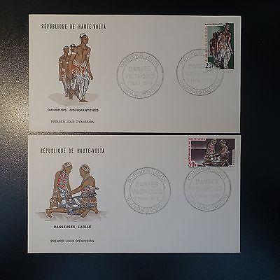 Herzhaft Haute Volta Nr.214/215 Auf Brief Cover 1 Briefmarken Burkina Faso Tag Fdc