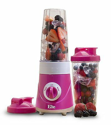 Elite Cuisine EPB-2572P Maxi-Matic Personal Drink Mixer with Two (Color:Purple)