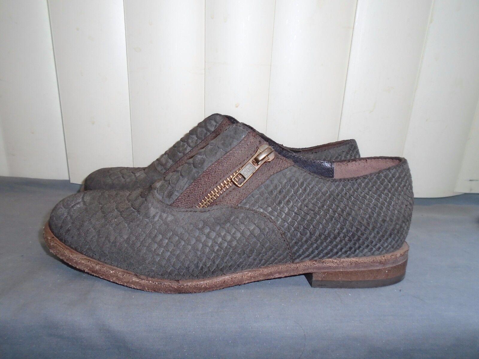 Free People Balboa Zip Darby Nero Croc Double Zip Balboa Oxfords Size EU 36 6 NWOB $148 7ff240