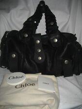 $2300 NEW CHLOE Silverado Large Black Soft Leather Satchel Handbag Purse