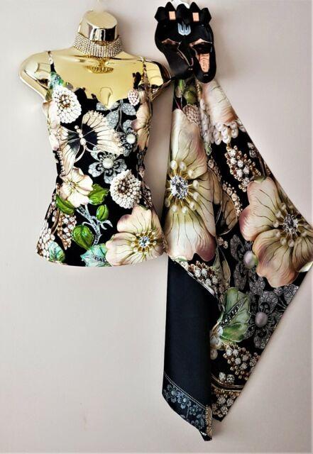 Ted Baker Rianeen Gem Gardens Scalloped Evening Camisole Top 12-14 Med*Dress Lst