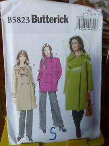 Oop-Butterick-5823-misses-jacket-coat-lined-double-breasted-sz-8-16-NEW