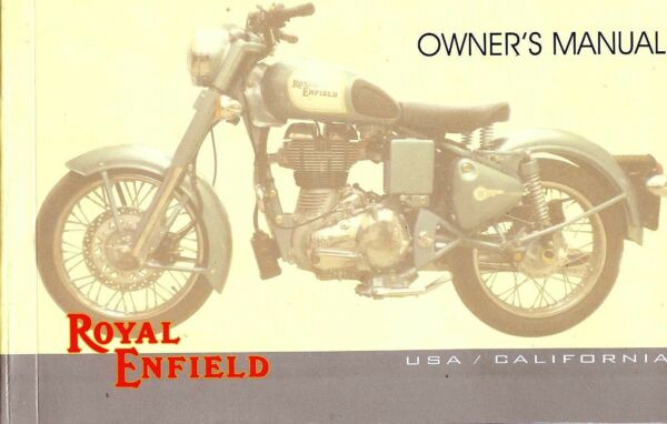 2011 Royal Enfield Bullet 500 Moto Manuale Di Istruzioni