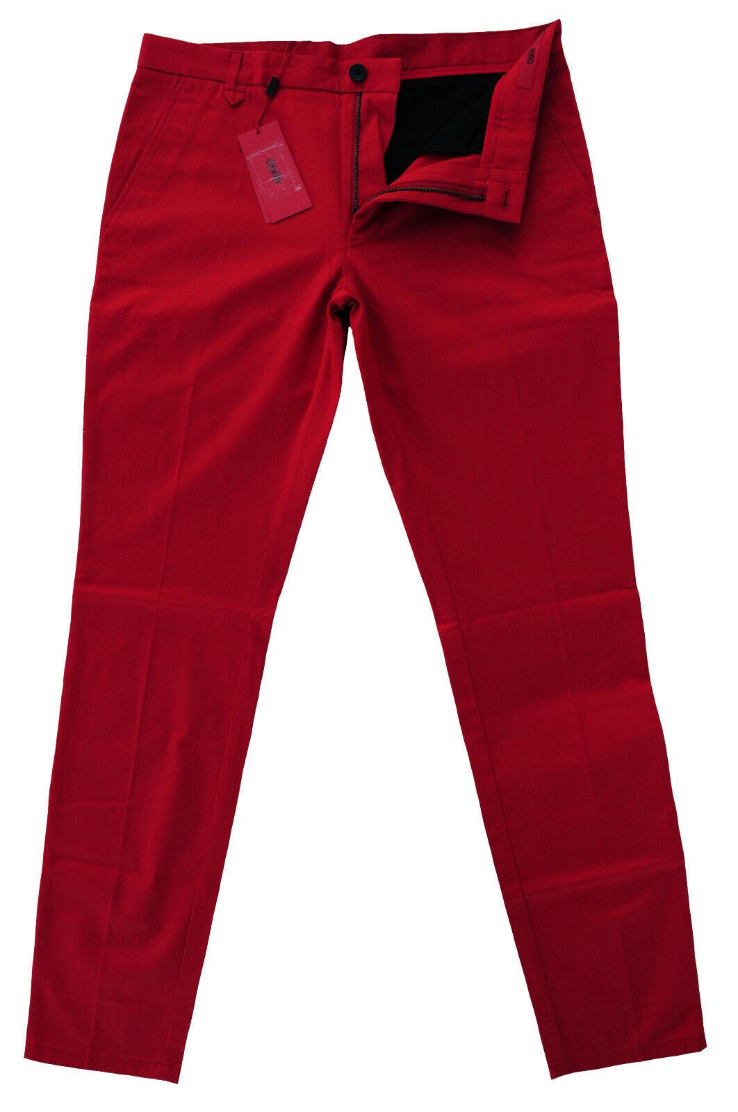 NEU Gr. 48 HUGO BOSS HELDOR2 MED-RED RED LABEL HOSE 50331253