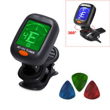 Black Chromatic LCD Clip-on Electric Tuner for Bass Guitar Ukulele and Violin