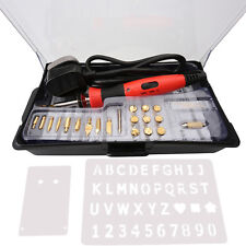 Wood Burning Marking 22 Piece Soldering Tool Set Pyrography Kit Brass Tips + Box