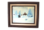 miniature 1 - Native American on Horse Winter Snow Oil Painting Signed Marshall Carmichael CA