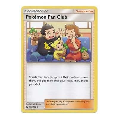 POKEMON 4X TRAINER POKEMON FAN CLUB 133//156 NM CARD  ULTRA PRISM