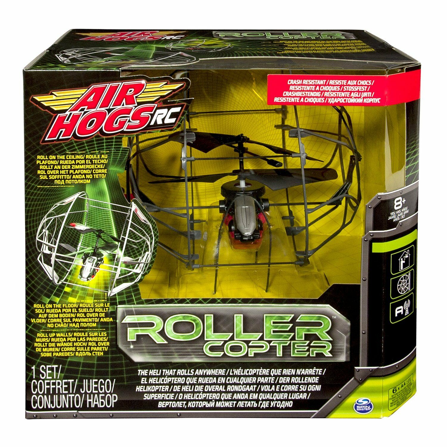Air Hogs Roller Copter Ages Ages Ages 8+ Radio Remote Control Plane RC Helicopter IR Gift bfa801
