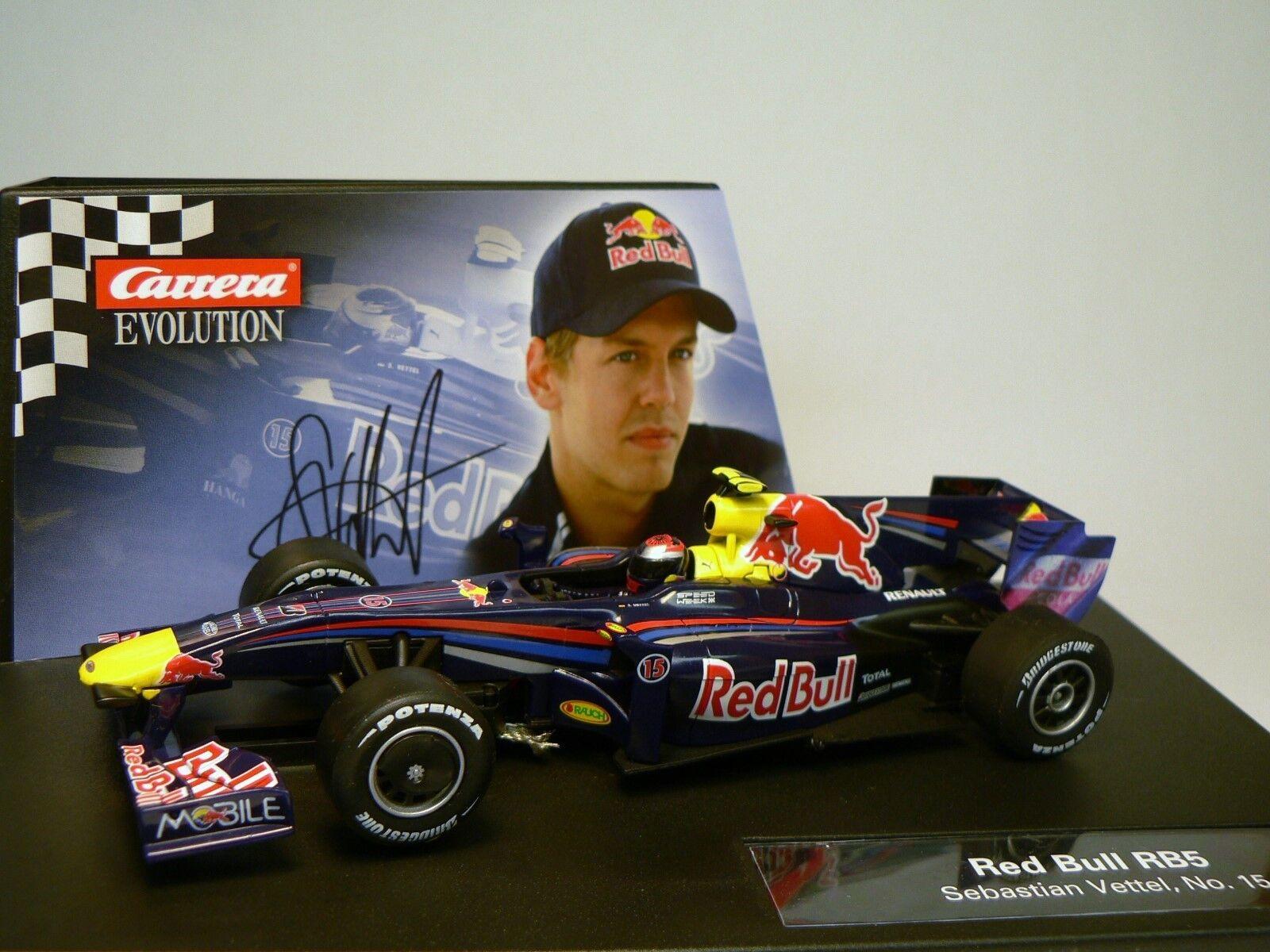 Carrera Evolution 27324 Red Bull RB5 Sebastian Vettel, No. 15 Neu