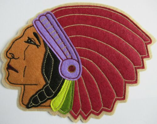 POLO RALPH LAUREN RUGBY INDIAN HEAD PATCH AUTHENTIC VERY RARE EXTRA LARGE NEW!