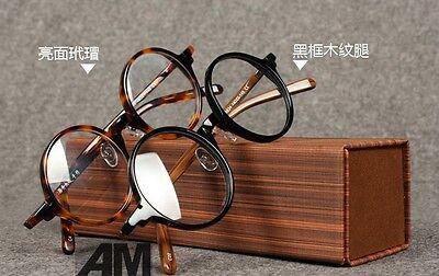 Retro Vintage  designer spectacle frame  round eyeglasses Janpan hand made