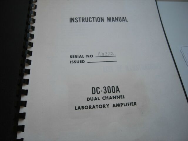 Crown Amcron DC-300A Stereo Amplifier INSTRUCTION MANUAL ORIGINAL W. CIRCUIT