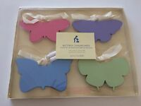 Pottery Barn Kids Butterfly Chalkboard Set 4 Hanging Labels Pink Green Blue+