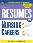 Resumes for Nursing Careers by McGraw-Hill Education (Paperback, 2007)