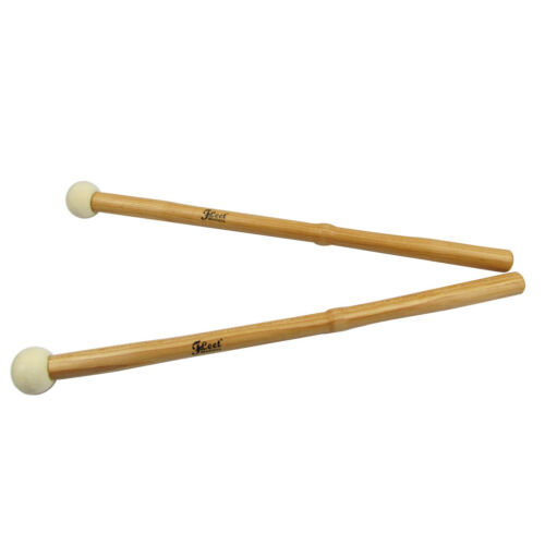 1 Paar Pauken Schlägel Trommelstöcke Sticks Holz Nussbaum Griff /& Hartfilz Kopf